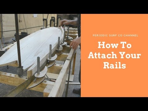 Applying rails with our ultimate surfboard bench