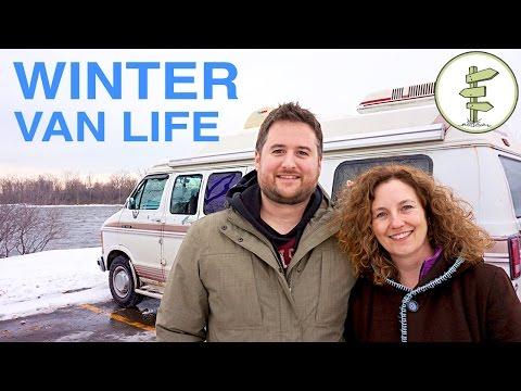 Van Life - Couple Survives 2 Canadian Winters Living in a Van!