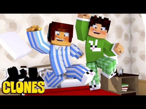 NOVA SÉRIE Minecraft Clones - FESTA DO PIJAMA !!