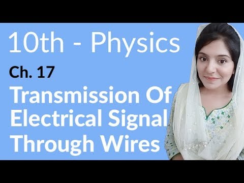 10th Class Physics Ch 17,Transmission of Electrical Signal Through Wires -Matric Part 2 Physics
