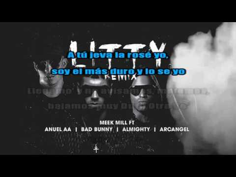 Anuel AA - Litty Remix ✘ Arcangel ✘Litty Remix ✘ Almigthy ✘ Meek Mill ✘ [Karaoke Oficial] ✘