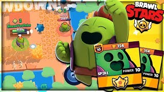 MAX SPIKE SHOWDOWN DOMINATION!! Brawl Stars Trophy Pushing