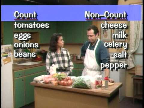 COUNT/NON-COUNT NOUNS - YouTube - count and noncount nouns esl