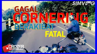 Yah Crash . Cornering - Butuh Skill bukan cuma nyali | Meet Up Motovlog SemarJoglo |SIMVLOG #32