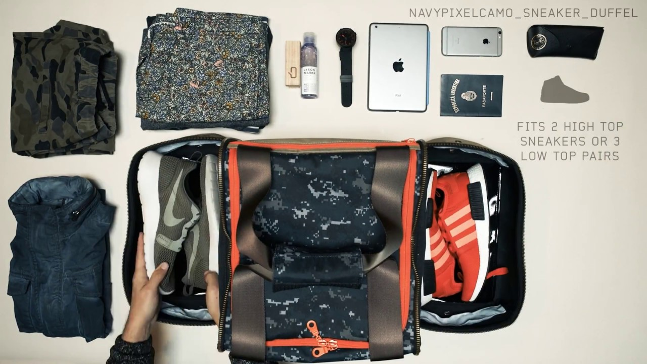 Shrine Navy Pixel Camo Carry On Duffle Bag Ng
