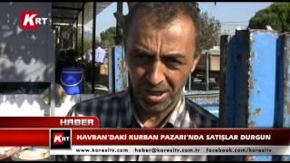 Havran'daki Kurban Pazarı'nda Satışlar Durgun