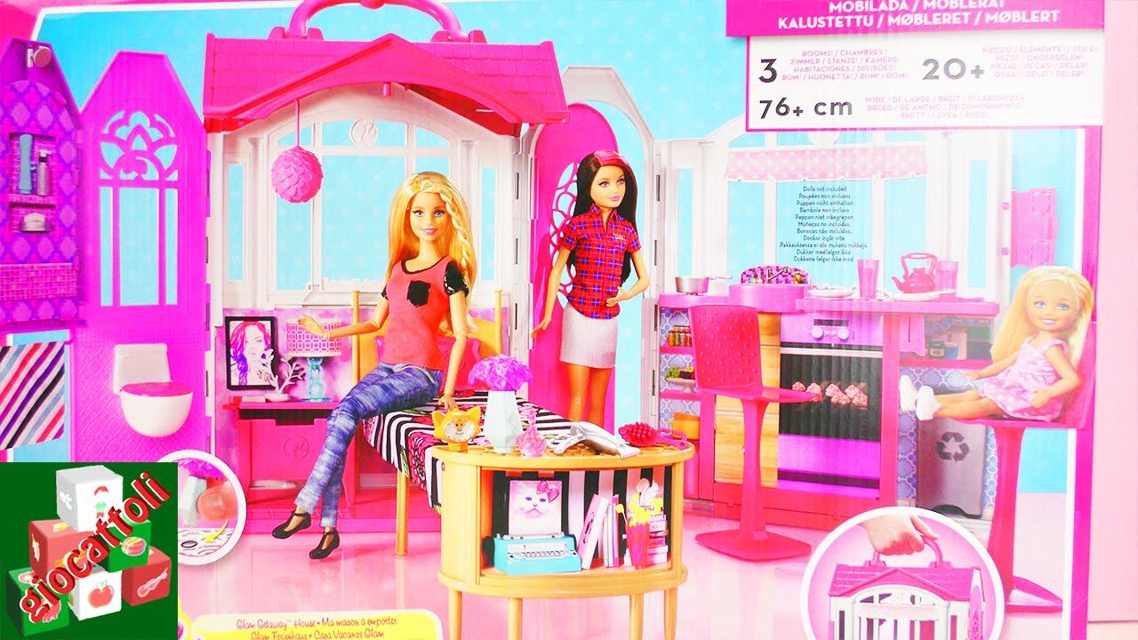 haute couture design exquis mode designer Casa di Barbie Glam – Vacanze nella casa delle bambole con WC, cucina e  accessori Unboxing