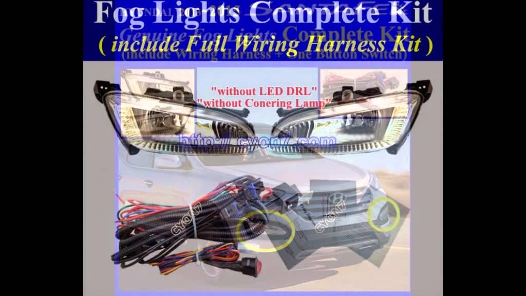 2013 2016 hyundai santa fe sport fog light lamp complete kit wiring rh youtube com 2012 Hyundai Santa Fe 2014 Hyundai Santa Fe Interior