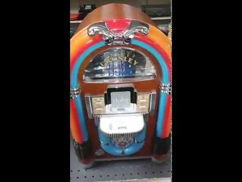 Crosley iJuke music player, vintage style for sale
