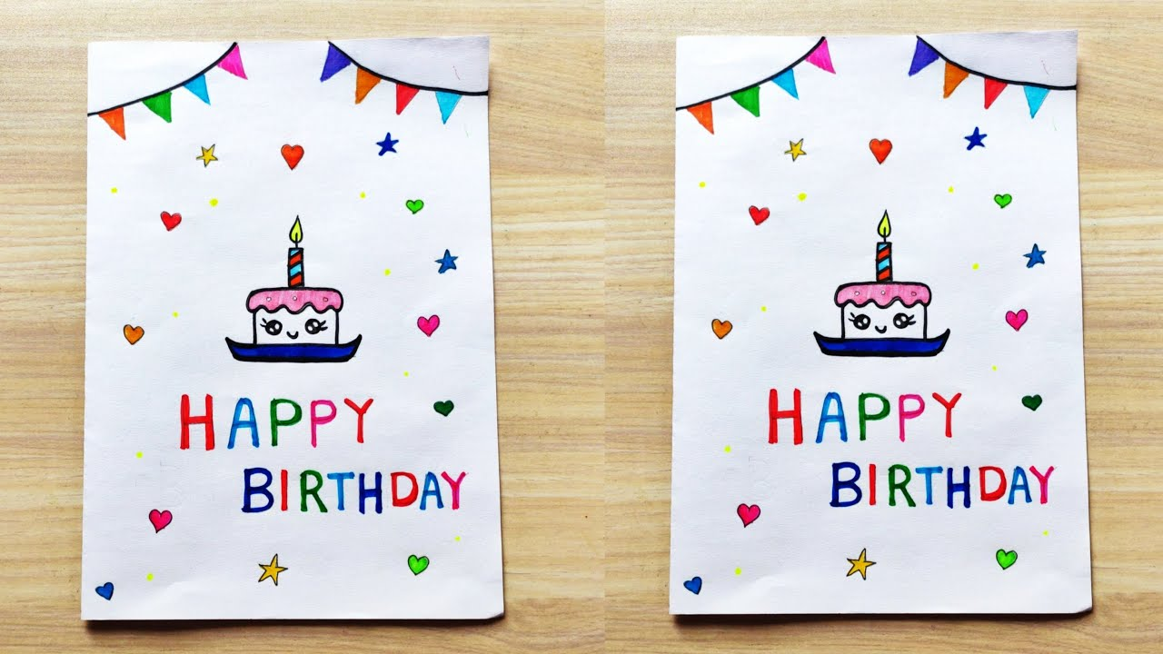 Birthday Card Drawing Ideas How To Make Birthday Card Handmade Birthday Greeting Card Making Ideas Youtube