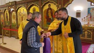 Поздравление с тезоименитством старосты храма Александра Денисова