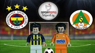 Fenerbahçe Aytemiz Alanyaspor Maç Özeti 3-0 17.02.2018  (LEGO SÜPER LİG MAÇ ÖZETLERİ)/ Lego Football