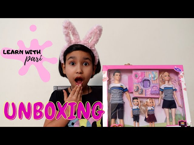 Family doll set unboxing | The Family Travel |  Mom, Dad, daughter Son Accessories / #LearnWithPari