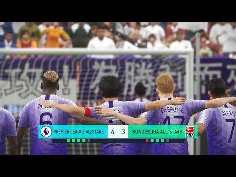 Premier league all stars vs bundesliga all stars i pes 2018 penalty shootout