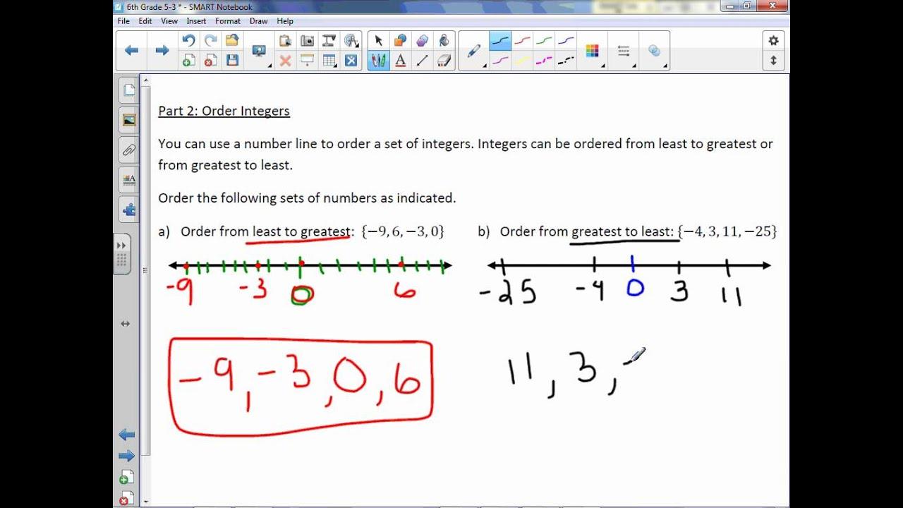 Adding integers grade 6