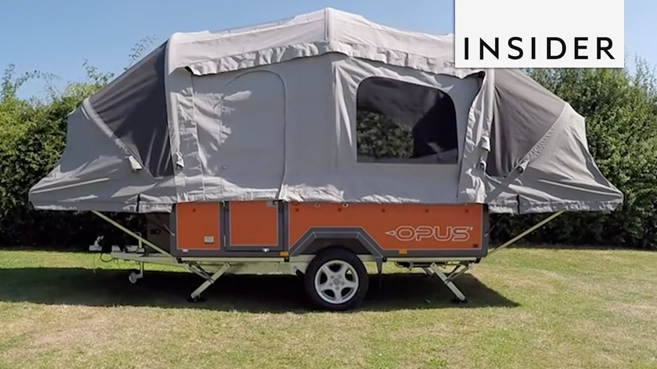Inflatable Tent Transforms Trailer Into A Portable Camper