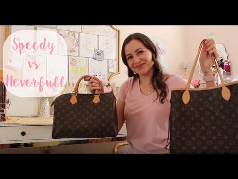 45c94c2749f8 Louis Vuitton Neverfull vs Speedy - YouTube