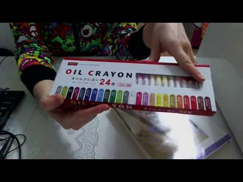 OIL CRAYON PASTEL 24 from DAISO JAPAN — kreatin