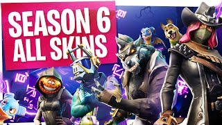 FORTNITE SEASON 6 LEVEL 100 BATTLE PASS! - ALL SKINS, PETS, EMOTES & UNLOCKS IN THE BATTLEPASS