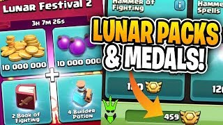 BUYING LUNAR NEW YEAR PACKS AND MAXING THE 3RD INFERNO! - Gem To Max - Clash of Clans