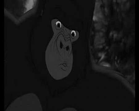 Kerchak finally grew to respect him and tried to protect Tarzan from Clayton which cost him his life While he was dying Kerchak asked Tarzan to forgive him for never treating him as a member of his family and finally believed that Tarzan was his son
