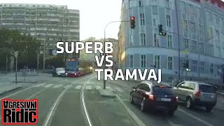Tram crashes the car the car, Drifting Lada, Suicide attempt on the highway, Brake check
