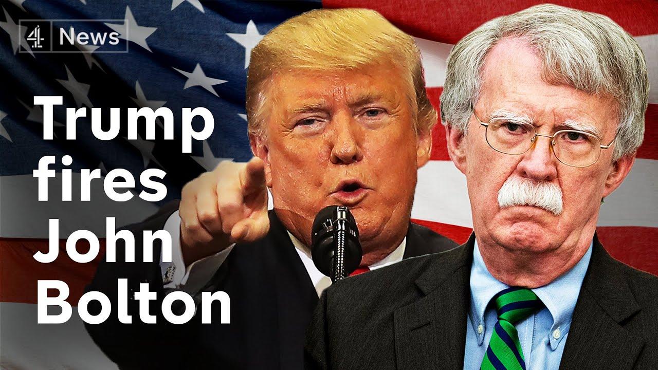 President Trump fires John Bolton - analysis and reaction - YouTube