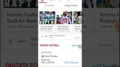 Yahoo Fantasy Football App Demo 2019
