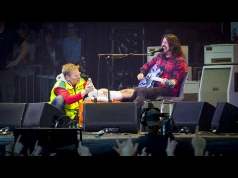 Rocker Dave Grohl Breaks Leg During Performance..Keeps On Rocking! [VIDEO]