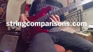 Ernie Ball Regular Slinky Bass Strings - String Comparisons