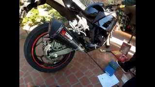 Scorpion Exhaust installation Kawasaki Ninja 300
