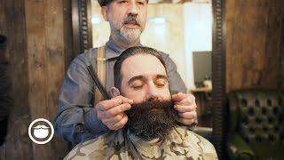 NY Beard Getting a Trim | Cut and Grind