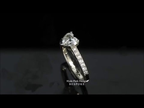 Heart Shaped Diamond Engagement Ring - Custom Made in London