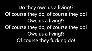 Crass - Do They Owe us a Living (Lyrics)