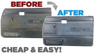 How To: Clean/Restore Old Dirty Truck/Car Door Panels/Cards - Cheap & Easy!