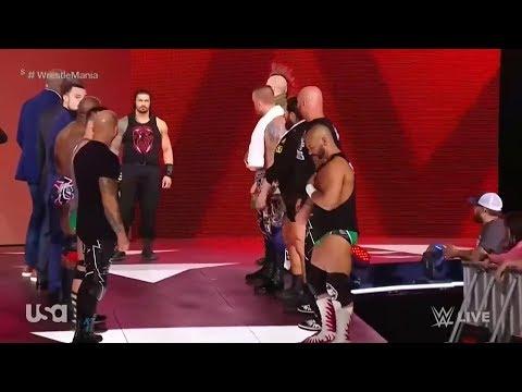 Roman Reigns Final Entrance Before Wrestlemania 34 WWE RAW 2 April 2018 HD