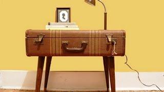 Как сделать столик из чемодана(Как сделать столик. В этом видео мы расскажем, как чемодан можно превратить в необычный, оригинальный журна..., 2014-08-01T09:54:18.000Z)