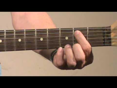Guitar lesson - Slow Blues in G Rhythm 1