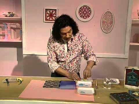 Como hacer una caja sorpresa estampado sobre carton y - Como forrar una caja con tela ...