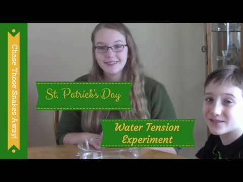 Water Tension Experiment for St. Patrick's Day