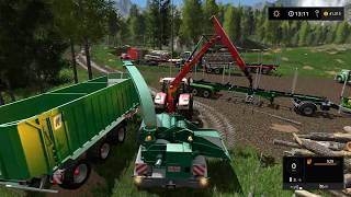 Farming simulator 17 - Emerald valley logging timelapse ep#9