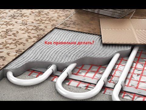 Как залить теплый пол в деревянном доме