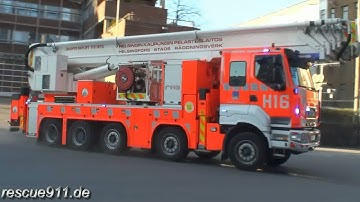 [Fire response Helsinki] H191 + H11 + H16 + H15 Helsingin Kaupungin Pelastuslaitos