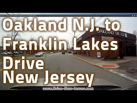 Drive New Jersey - Pompton Lakes to Oakland to Franklin Lakes - NJ Housewife Territory