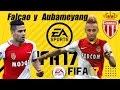 FIFA 17 |  FALCAO Y AUBAMEYANG | INCREÍBLE CÓMO JUEGAN EN EL MÓNACO (CARRERA TÉCNICO)