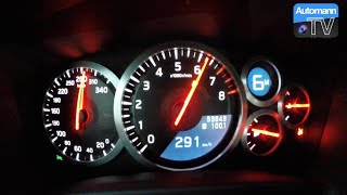 Insanely FAST Autobahn acceleration test with a 2012 Nissan GTR del...