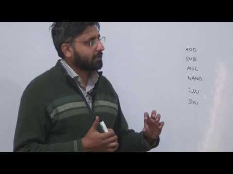 Simple Processor Design, Assembly, Machine Code, Logic Design Lec 25/26