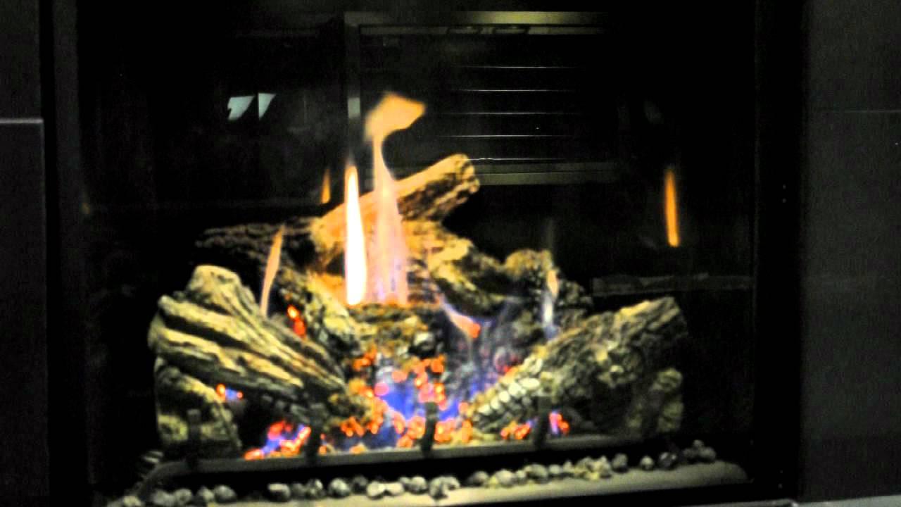 mendota fullview fv41 gas fireplace closeup youtube