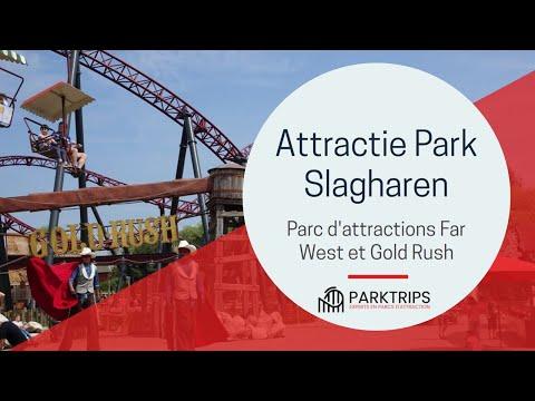 Visite du parc d'attractions de Slagharen, sa montagne russe Gold Rush et son ambiance de Western