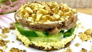 Праздничный салат с ЯЗЫКОМ и ГРИБАМИ !!! Как вкусно приготовить ГОВЯЖИЙ ЯЗЫК ! /  SALAD WITH TONGUE
